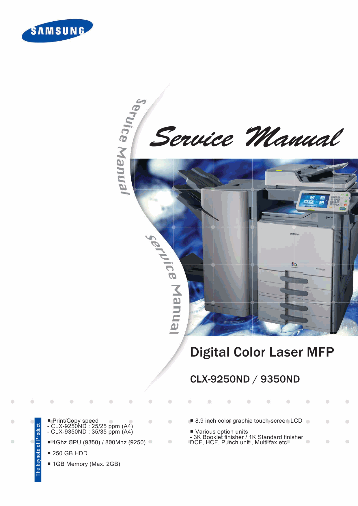 Samsung Digital-Color-Laser-MFP CLX-9250ND 9350ND Parts and Service Manual-1